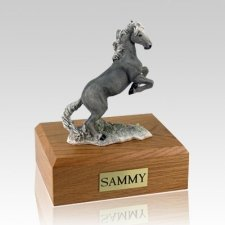Mustang Gray X Large Horse Cremation Urn