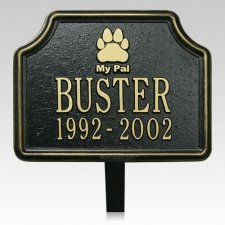 My Pal Pet Memorial Plaque