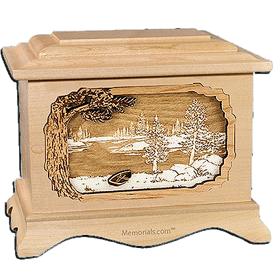 New Lake Maple Cremation Urn For Two