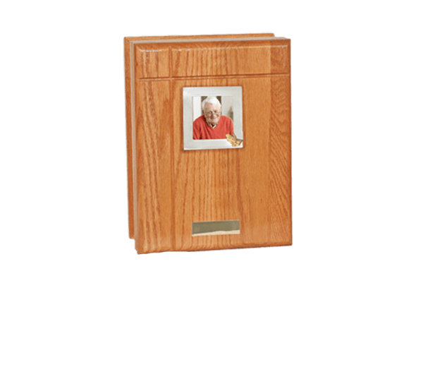 Natural Oak Book Cremation Urn