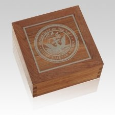 Navy Wood Cremation Urns