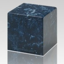 Navy Cube Keepsake Cremation Urn
