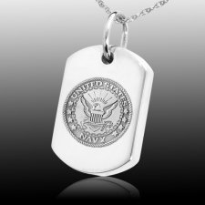 Navy Dog Tag Cremation Pendant III