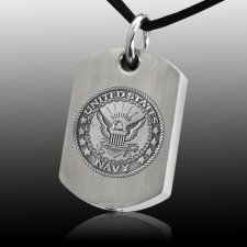 Navy Dog Tag Cremation Pendant