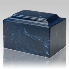 Navy Marble Keepsake Cremation Urn