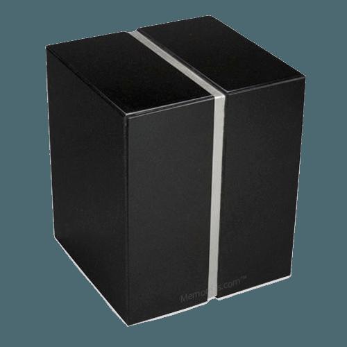 Nero Absoluto Silver Granite Urn for Two