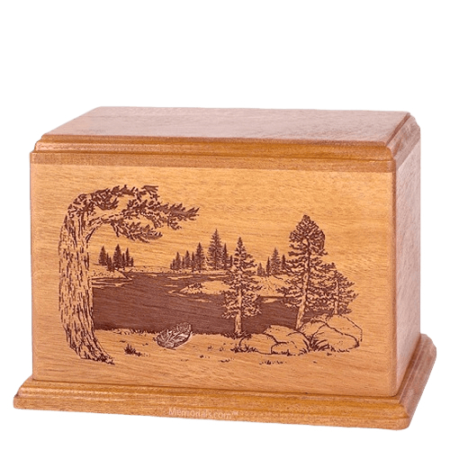 New Lake Companion Cherry Wood Urn