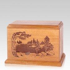 New Lake Individual Cherry Wood Urn