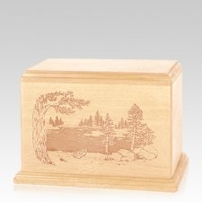 New Lake Individual Maple Wood Urn