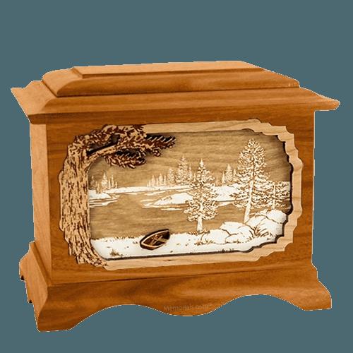 New Lake Mahogany Cremation Urn