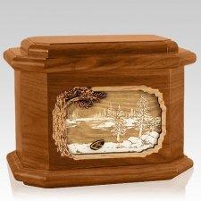 New Lake Mahogany Octagon Cremation Urn