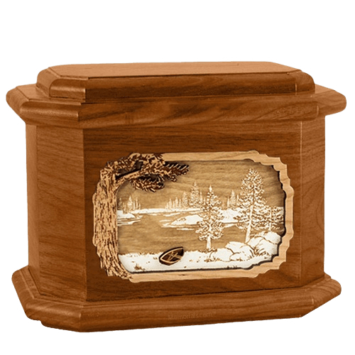 New Lake Mahogany Octagon Cremation Urn