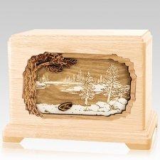 New Lake Maple Hampton Cremation Urn