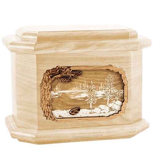 New Lake Maple Octagon Cremation Urn