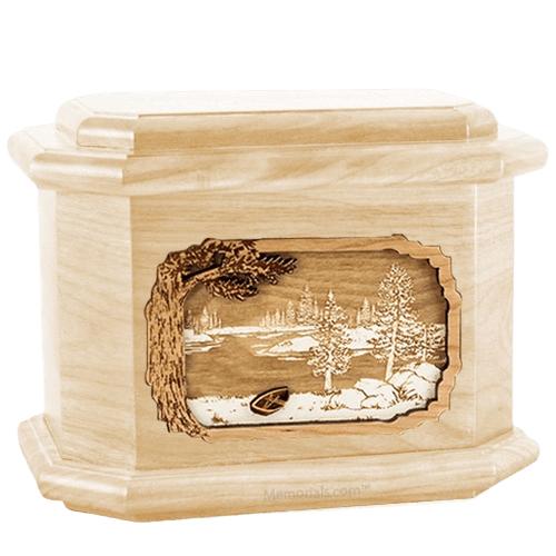 New Lake Maple Octagon Cremation Urn