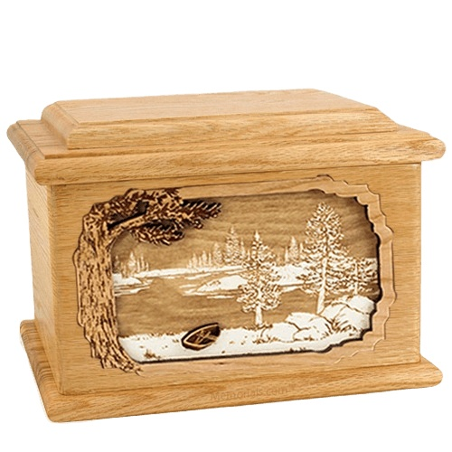 New Lake Oak Memory Chest Cremation Urn