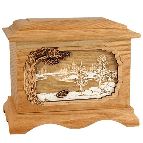 New Lake Oak Cremation Urn