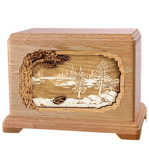 New Lake Oak Hampton Cremation Urn