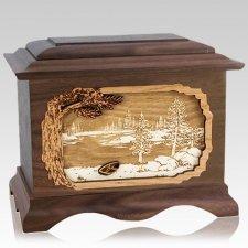 New Lake Walnut Cremation Urn