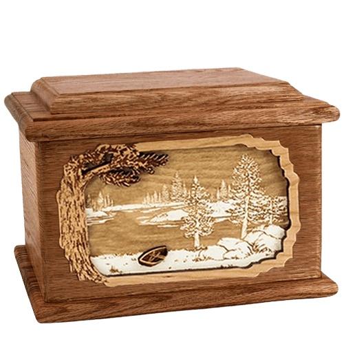 New Lake Walnut Memory Chest Cremation Urn