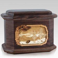New Lake Walnut Octagon Cremation Urn