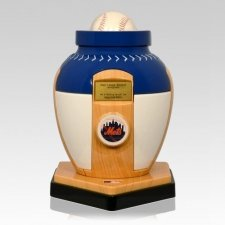 New York Mets Baseball Cremation Urn