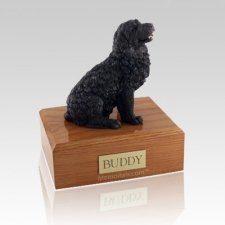 Newfoundland Black Large Dog Urn