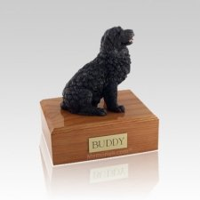 Newfoundland Black Medium Dog Urn