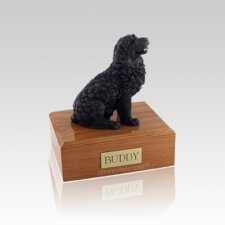 Newfoundland Black Small Dog Urn