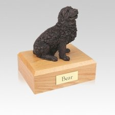 Newfoundland Bronze Small Dog Urn