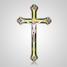 Noble Gold Crucifix Applique