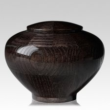 Noir Medium Wood Urn