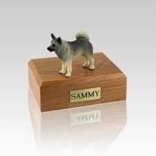 Norwegian Elkhound Small Dog Urn