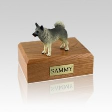Norwegian Elkhound Standing Medium Dog Urn