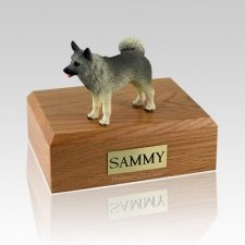 Norwegian Elkhound Standing Dog Urns