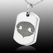 Nose Tag 14k White Gold Print Cremation Keepsakes
