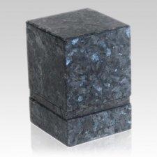 Notre Blue Pearl Stone Pet Urn