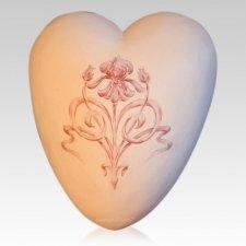 Nouveau Ceramic Heart Urn