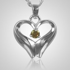 November Birthstone Cremation Heart