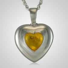 November Cremation Heart Pendant