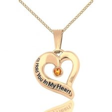 November Gold Heart Keepsake