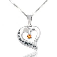 November White Gold Heart Keepsake