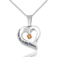 November Heart Keepsake Jewelry