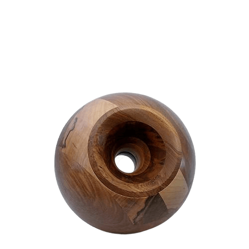 Nut Orb Small Wood Urn