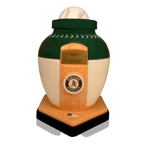 Oakland Athletics Baseball Cremation Urn