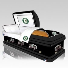 Oakland Athletics Casket
