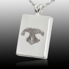Oblong Nose 14k White Gold Tag Print Cremation Keepsakes