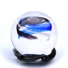 Ocean Blue & Black Galaxy Memory Glass Keepsake