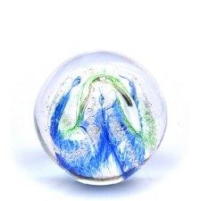 Ocean Blue & Green Embrace Medium Memory Glass Keepsake