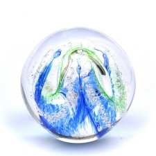 Ocean Blue & Green Embrace Memory Glass Keepsake
